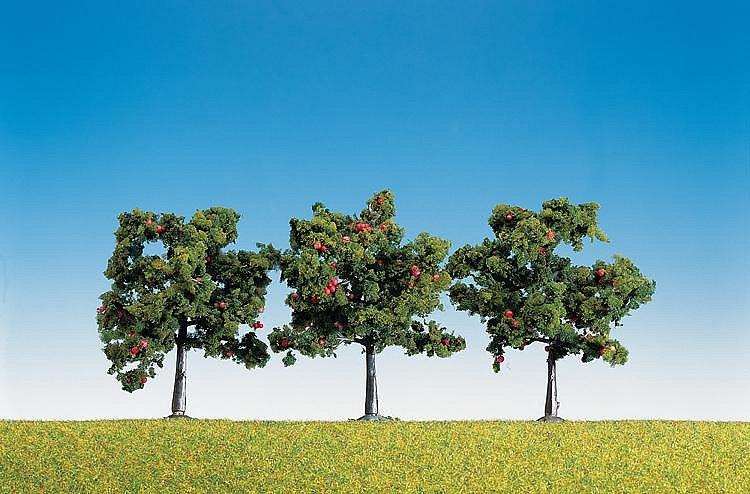 Modélisme : Végétation : 3 pommiers avec fruits - Faller-181403
