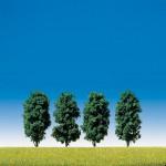 Modélisme : Végétation : 4 arbres avec feuilles
