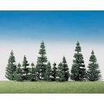 Modélisme HO : Végétation : 40 sapins argentés