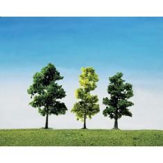 Modélisme HO : Végétation : Assortiment de 5 arbres de forêt