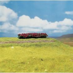 Modélisme : Végétation : 4 haies Premium avec fleurs rouges