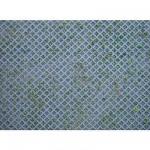 Modélisme HO : Plaque de mur : Briques perforées en losanges avec herbe