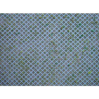 Modélisme HO : Plaque de mur : Briques perforées en losanges avec herbe - Faller-170625
