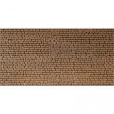 Modélisme HO : Plaque de mur : Grès rouge brun