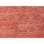 Modélisme HO : Plaque de mur : Grès rouge