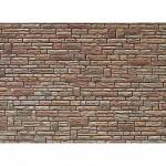 Modélisme HO : Plaque de mur : Grès vert jaune brun