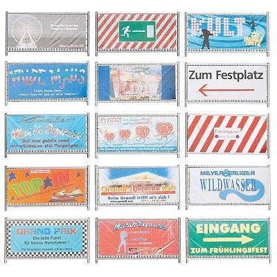 Modélisme HO : Accessoires de décor : Clôtures et panneaux de barrage fête foraine - Faller-140358