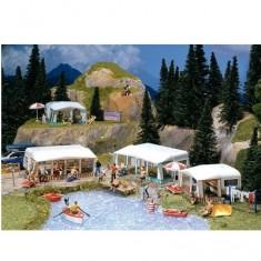 Modélisme HO : Accessoires de décor : Kit de caravanes de camping