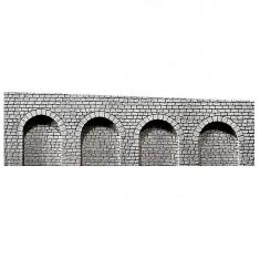 Modélisme HO : Dalle décorative : 4 arcades avec rampe vers la gauche