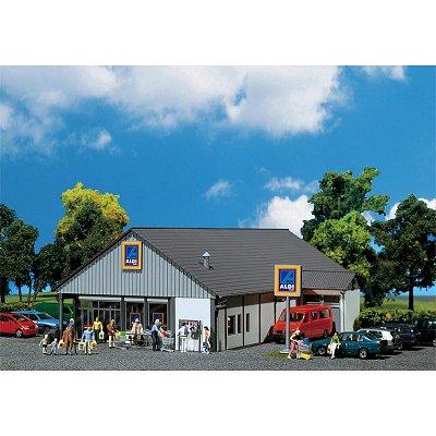 Modélisme HO : Supermarché ALDI Sud/Nord - Faller-130339