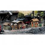 Modélisme ferroviaire HO : 3 baraquements de cantonnier