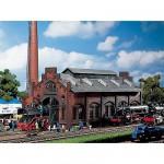 Modélisme ferroviaire HO : Entrepôt/garage à locomotives