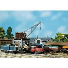 Modélisme ferroviaire HO  - Faller Hobby : Grue portique chemin de fer