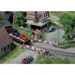 Modélisme ferroviaire HO : Passage à niveau 2 maisons