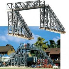 Modélisme ferroviaire HO : Faller Hobby : Passerelle en métal pour piétons