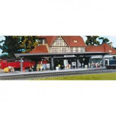 Modélisme ferroviaire HO : Quai avec entraînement