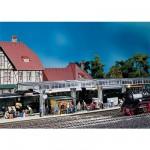 Modélisme ferroviaire HO : Quai avec kiosque