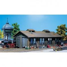 Modélisme ferroviaire HO : Remise à locomotives 2 places