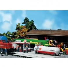Modélisme ferroviaire HO : Station service des chemins de fer