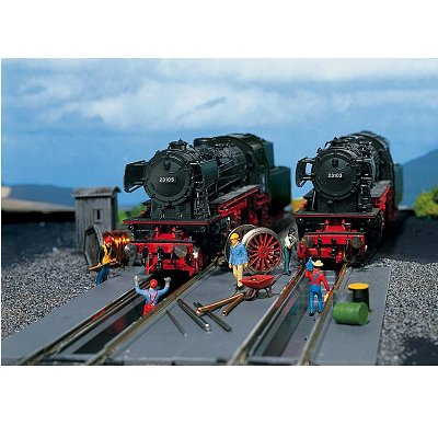 Modélisme ferroviaire HO : 2 fosses de visite - Faller-120136