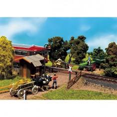 Modélisme ferroviaire HO : Passage à niveau 1/87