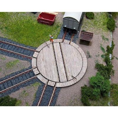 Modélisme ferroviaire HO : Petite plaque tournante pour wagon avec servocommande - Faller-120276