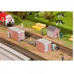 Modélisme ferroviaire HO : 3 stations de transformateur Brique