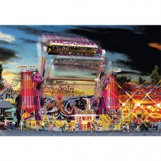 Modélisme HO : Fête foraine : Carrousel Top Spin