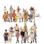 Modélisme HO - Figurines: Set 36 pièces : Visiteurs de foire
