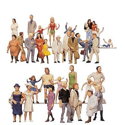 Modélisme HO - Figurines: Set 36 pièces : Visiteurs de foire - Faller-153003
