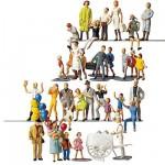 Modélisme HO: Figurines: Set 36 pièces : Visiteurs de kermesse