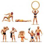 Modélisme HO : Figurines : Set baigneurs à la plage