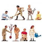 Modélisme HO : Figurines : Set jardiniers