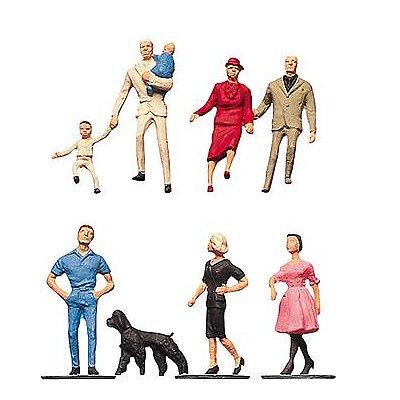 Modélisme HO : Figurines : Passants 4 - Faller-150904