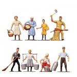 Modélisme HO : Figurines : Set A la ferme