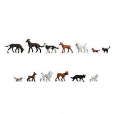 Modélisme HO : Figurines : Set chats et chiens