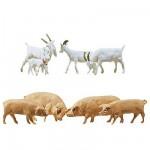 Modélisme HO : Figurines : Set chèvres et porcs