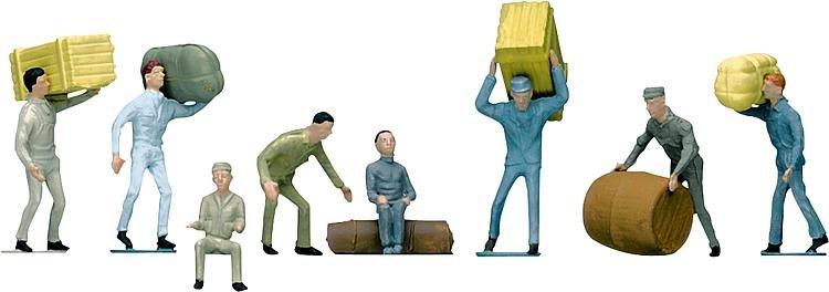 Modélisme HO : Figurines : Set conducteurs, manutentionnaires, société de transport - Faller-151033