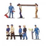 Modélisme HO : Figurines : Set constructeurs de voies