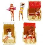 Modélisme HO : Figurines : Set dans le fauteuil en osier