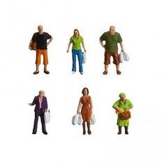 Modélisme HO : Figurines : Set en faisant les courses