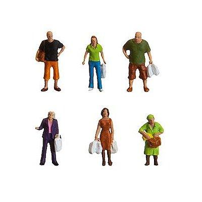Modélisme HO : Figurines : Set en faisant les courses - Faller-153042