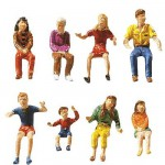 Modélisme HO : Figurines : Set fête foraine 2