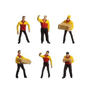 Modélisme HO : Figurines : Set ouvriers de transport DHL - Faller-151071