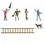 Modélisme HO : Figurines : Set par la fenêtre