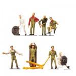 Modélisme HO : Figurines : Set personnel de station-service