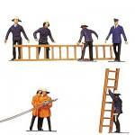 Modélisme HO : Figurines : Set pompiers et accessoires