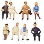 Modélisme HO : Figurines : Set voyageurs assis 2