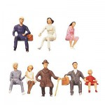 Modélisme HO : Figurines : Set voyageurs assis 3