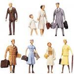 Modélisme HO : Figurines : Set voyageurs 1